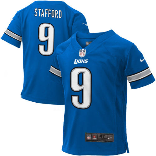 Toddler Detroit Lions Matthew Stafford Nike Light Blue Game Jersey