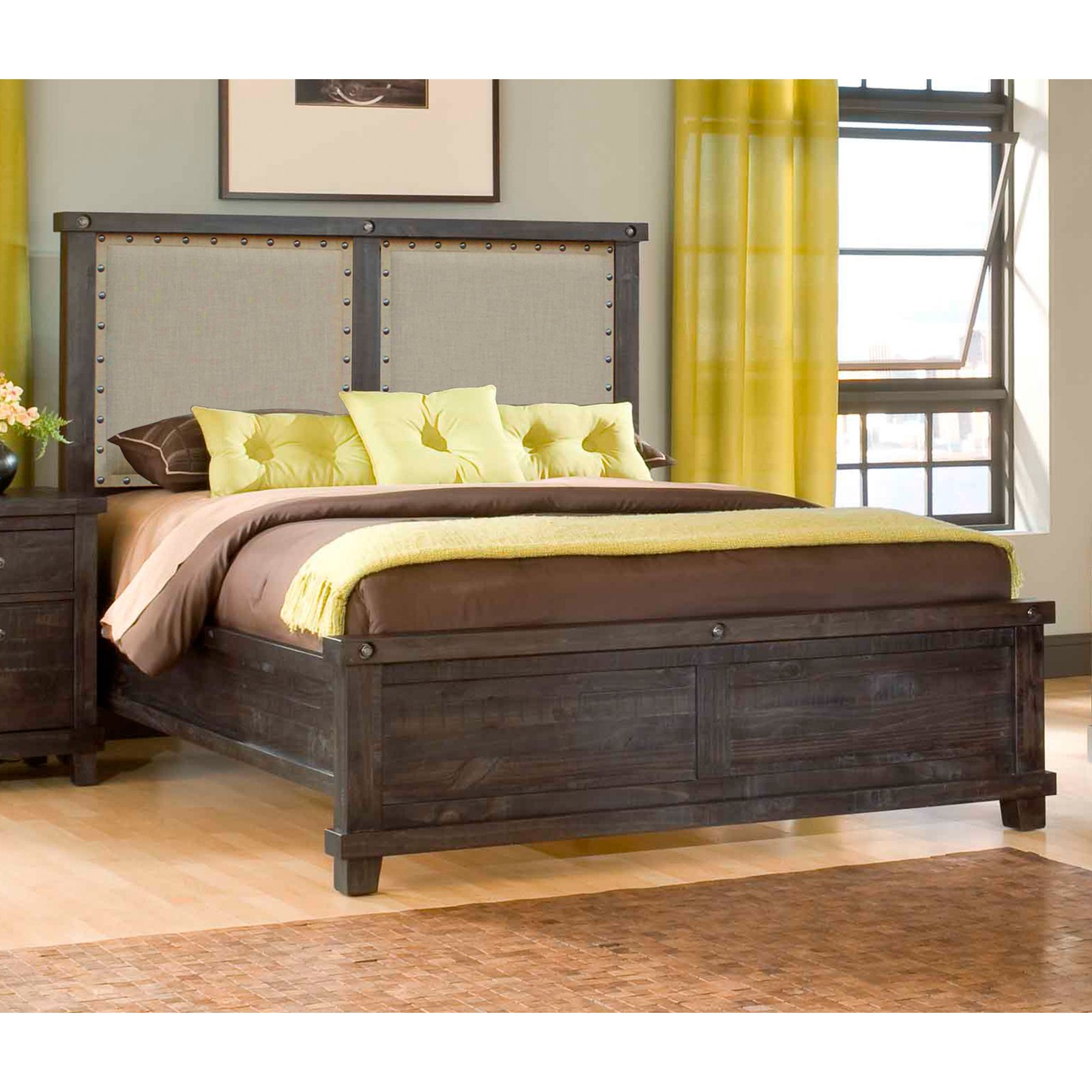 Yosemite Upholstered Panel Bed