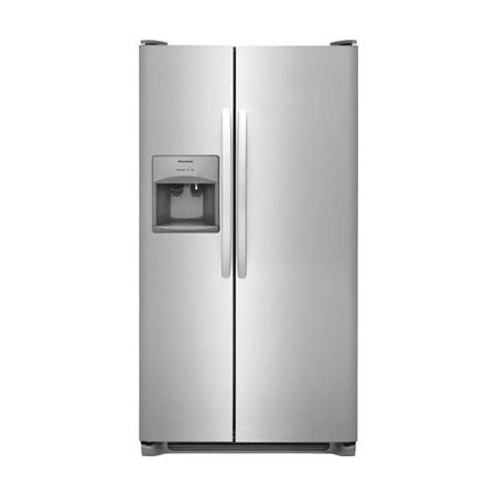 FFSS2315TS 33 Freestanding Side-by-Side Refrigerator 22.1 cu. ft. Capacity PureSource 3 Ice & Water Filtration Ready-Select LCD Controls Store-More Gallon Door Bins & 2 Refrigerator Glass