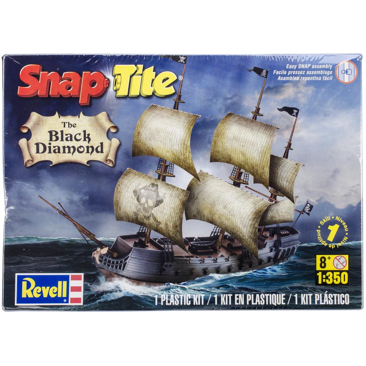 SnapTite Plastic Model Kit Black Diamond Pirate Ship 1:350 by Revell
