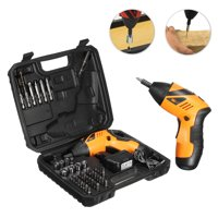 Kadell 45in1 4.8V Cordless Electric Drill For Iron Wood Steel Portable Screwdriver Battery P ower Tool Screw Gun Kit W/ LED Light & Indicator Light+Carry Case