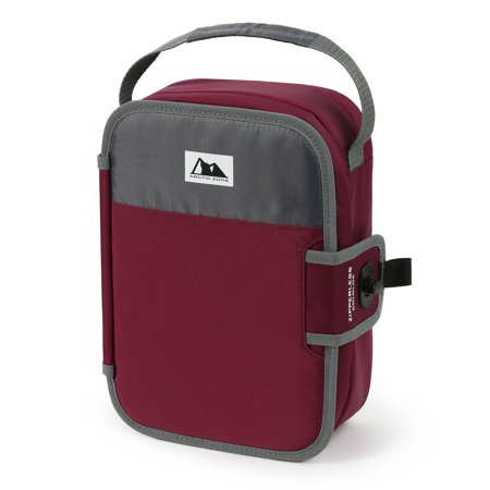 Arctic Zone Zipperless Lunch Maroon and Gray