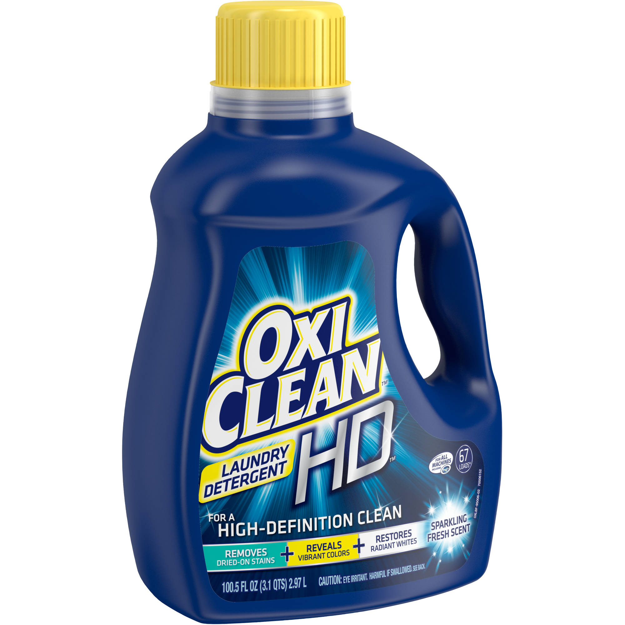 OxiClean HD Sparkling Fresh Scent Liquid Laundry Detergent, 100.5 fl oz