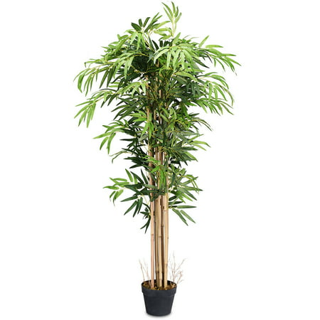Costway 3.5'  4'  5'  5.5'  6' Artificial Tree Indoor-Outdoor Home Decor ()