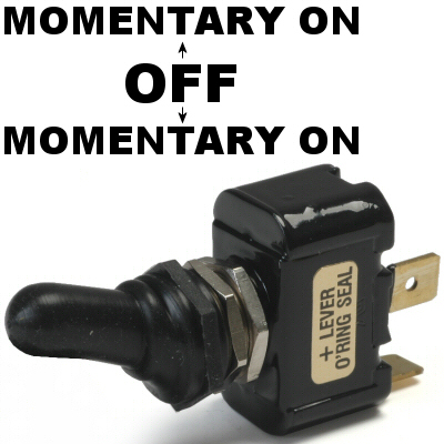 K-Four Momentary On / Off / Momentary On 20 Amp Sand Sealed Toggle Switch With Tab Terminals