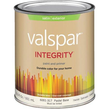 Valspar Integrity Latex Paint And Primer Satin Exterior House Paint