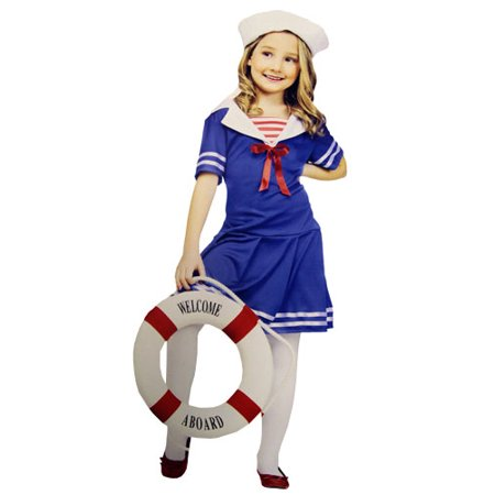 Girls Sweet Sailor Costume (Flirty Sailor Girl)