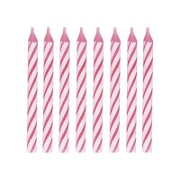Pink Birthday Candles, 2.5in, 24ct