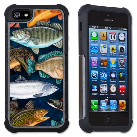 Apple iPhone 6 Plus / iPhone 6S Plus Cell Phone Case / Cover with Cushioned Corners - Fresh Water Fish (Fish And Water Iphone Case)