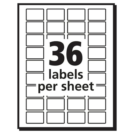 Avery r white removable print or write labels 5418 1 2 for Avery 2 x 3 label template