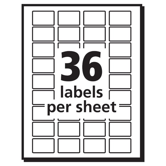 Averyr White Removable Print Or Write Labels 5418 12 X 34
