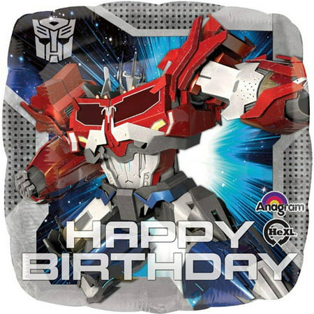 Transformers Happy Birthday Foil - Happy Birthday Transformers