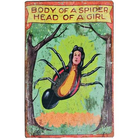 Halloween Carnival Ideas For Preschoolers (17in. Spider Girl Carnival Sign Halloween)