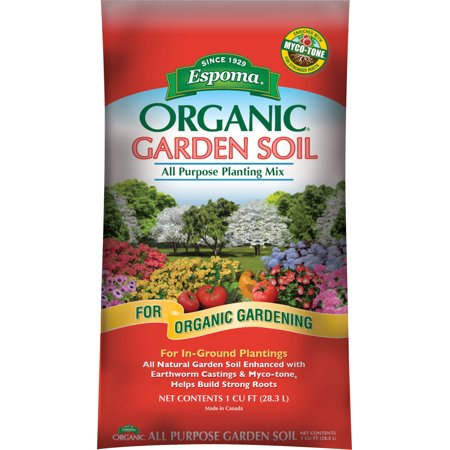 - Espoma Company-Soils-Organic Garden Soil All Purpose Planting Mix 1 Cubic Foot
