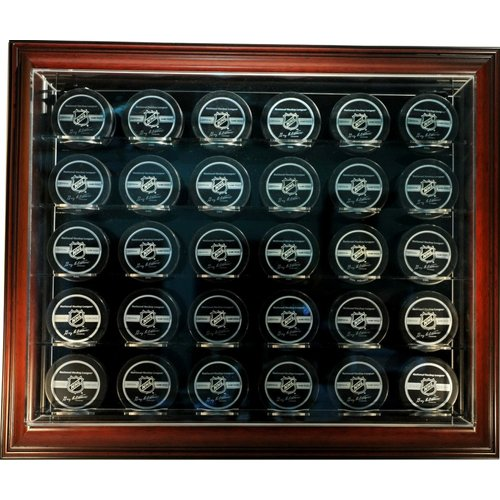 Caseworks International Thirty Puck ''Case-Up'' Display in Brown