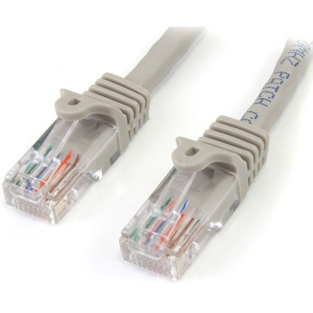 StarTech 15 ft Gray Snagless Cat5e UTP Patch Cable 45PATCH15GR