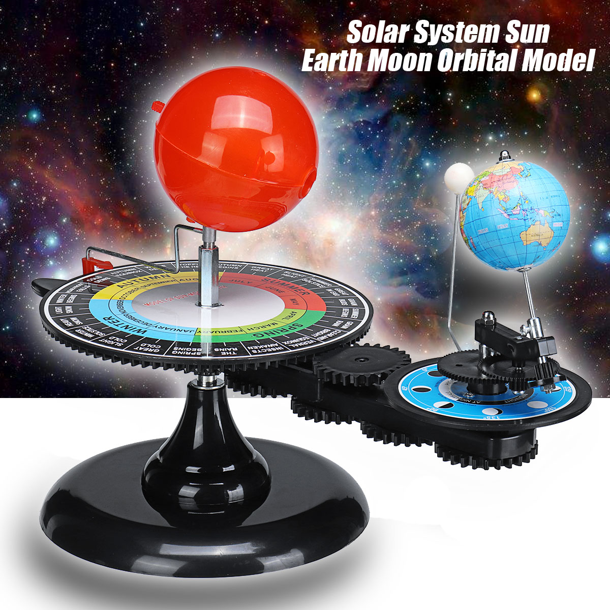 Solar System Sun Earth Moon Orbital Model Education Technic Planetarium Project Kids Children Birthday Christmas Gift