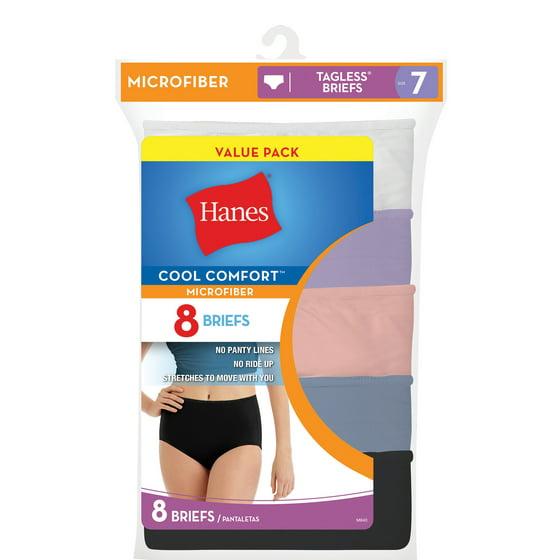 a75b6d3839c Hanes - Women s Cool Comfort Microfiber Brief - 8 Pack - Walmart.com