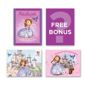"""Gallery Direct """"Disney Junior Sofia the First"""" Embellished Canvas - Set of 4, 8.5W x 6.5H x .5D each - Multi-color"""