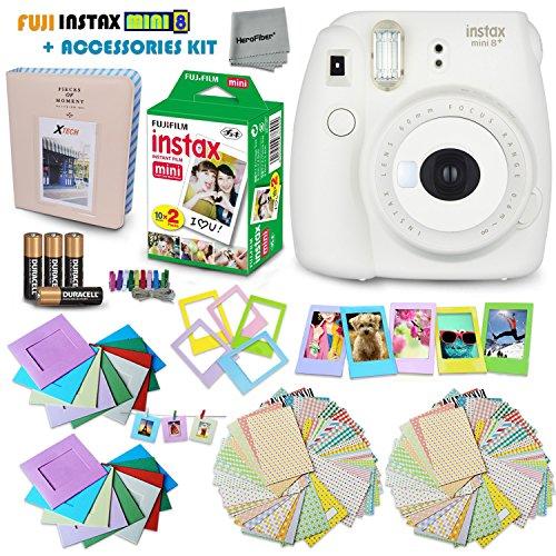 fujifilm instax mini 8 camera white + accessories kit for