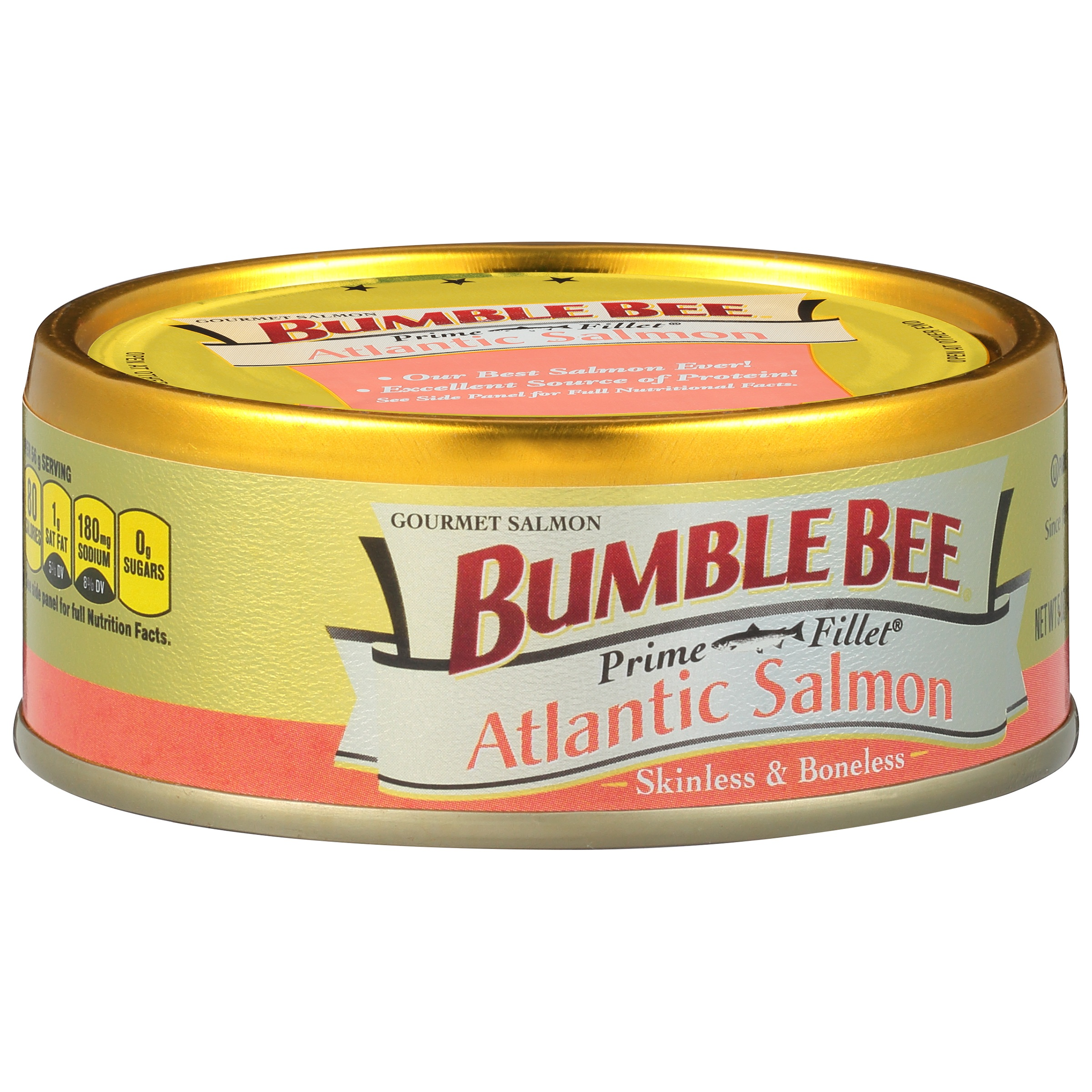 Bumble Bee Prime Fillet Skinless and Boneless Atlantic Salmon, 5oz can by Bumble Bee Foods