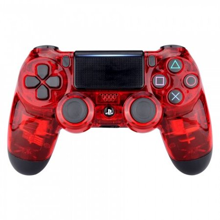 Transparent Red Ps4 Rapid Fire Custom Modded Controller 40 Mods for COD Games (40 Call Rackmount)