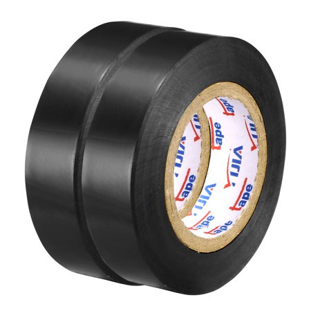 "Insulating Tape ,PVC Electrical Tape,  Single Sided, 21/32"" Width, 49ft Long, 6 mil Thick, Black, 2pcs - image 4 of 4"