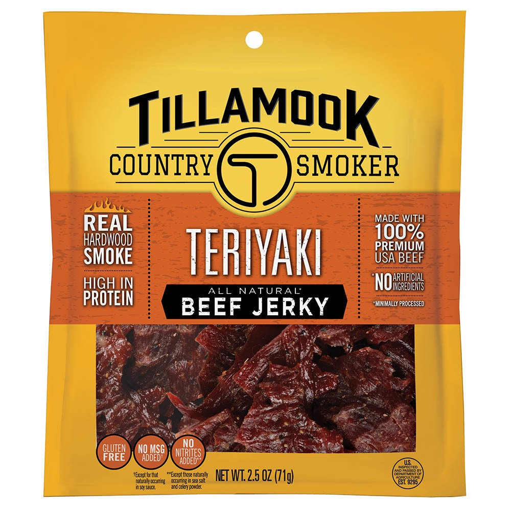 Tillamook All Natural Teriyaki Beef Jerky (Pack of 18)
