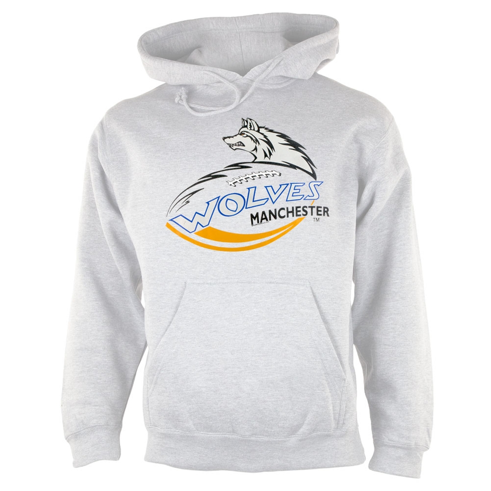 Manchester Wolves - Logo Grey Adult Pullover Hoodie