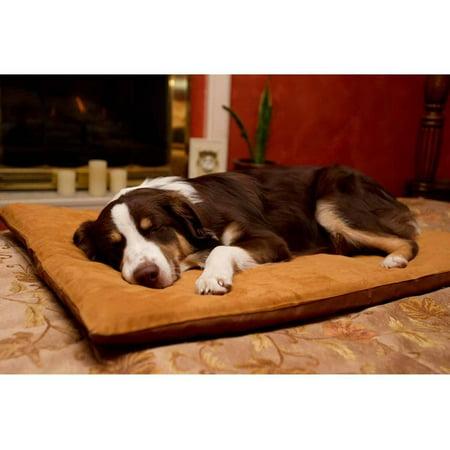 Furhaven Pet Nap Envelope Suede Orthopedic Pet Bed Dog Bed