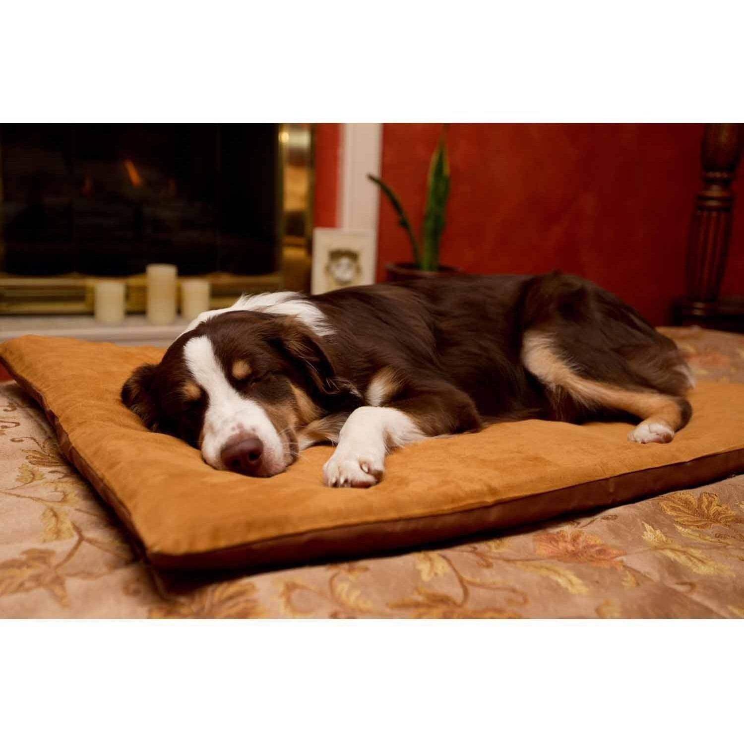 furhaven pet nap envelope suede orthopedic pet bed dog bed