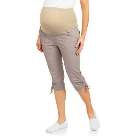 dd27beacba9 Oh! Mamma - Maternity Overbelly Stretch Poplin Capri Pants - Available in Plus  Sizes - Walmart.com
