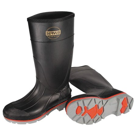 "Servus by Honeywell Size 12 XTP Black 15"" PVC Hi Boots With Dual Compound Outsole"