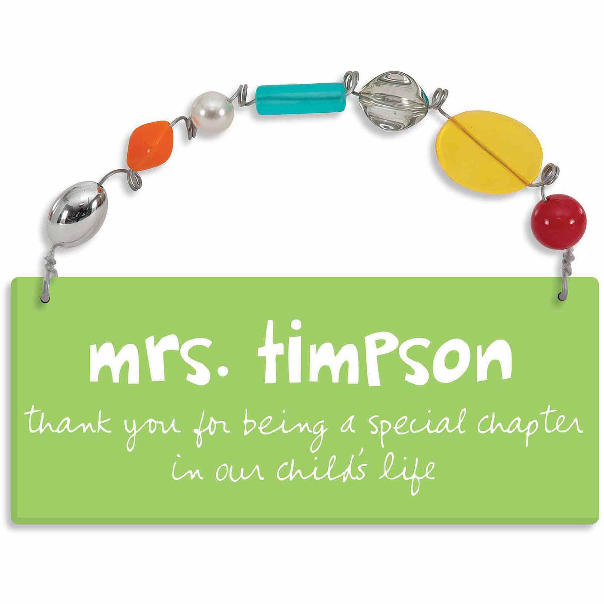 Personalized Sandra Magsamen Special Teacher Wall Plaque