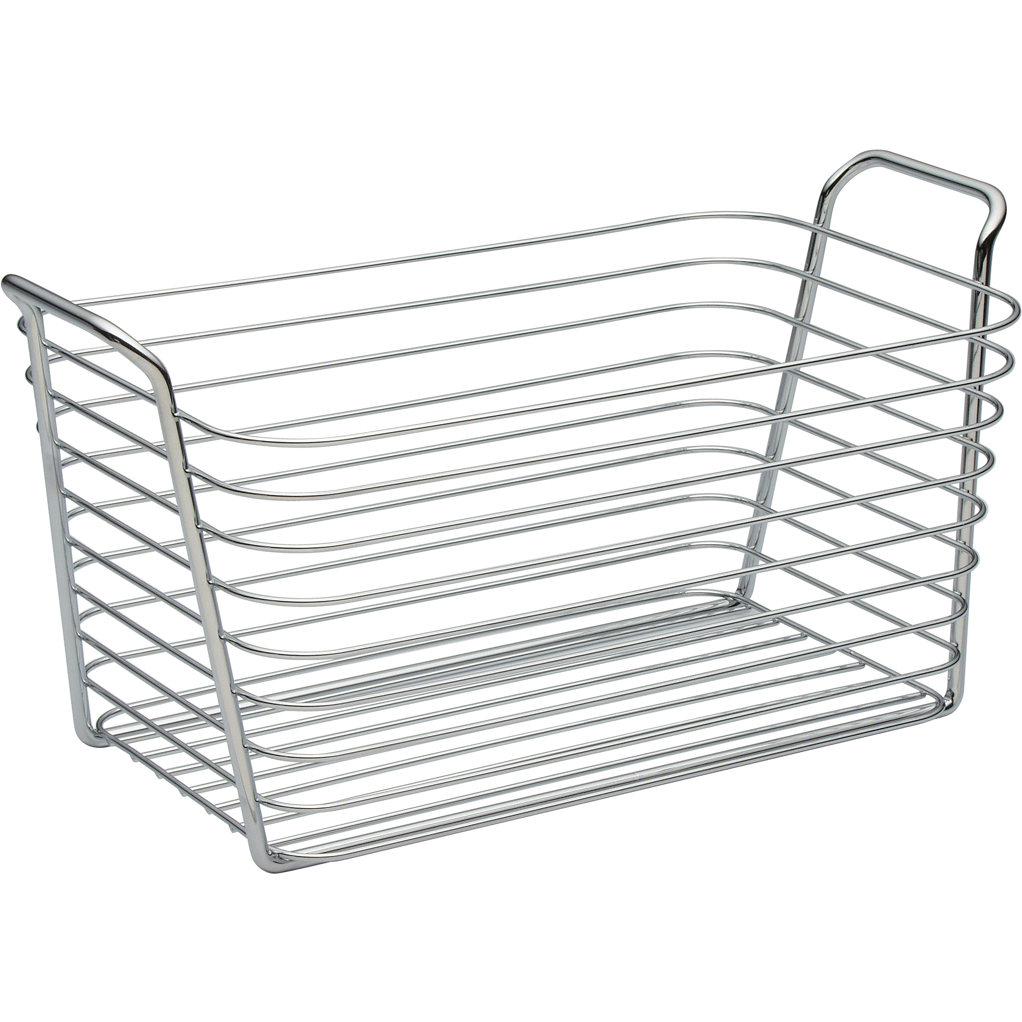 InterDesign Classico Kitchen Pantry Bath Medium Organizer Wire Basket, Chrome