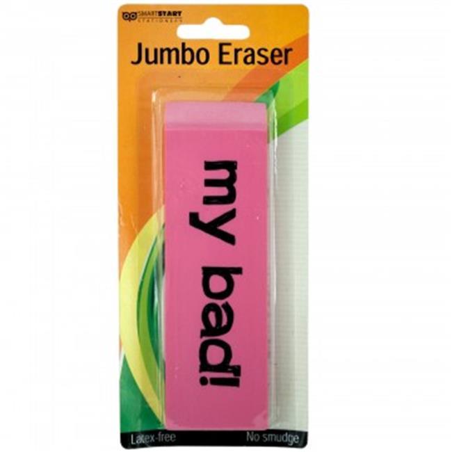 Bulk Buys SC027-48 Jumbo Pink Eraser - 48 Piece
