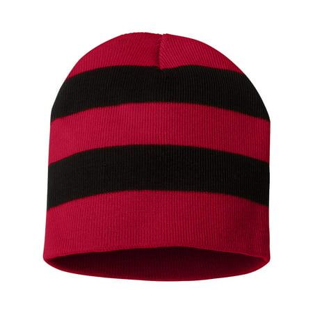 012e0f3dedc Sportsman SP01 Rugby Striped Knit Beanie - Walmart.com