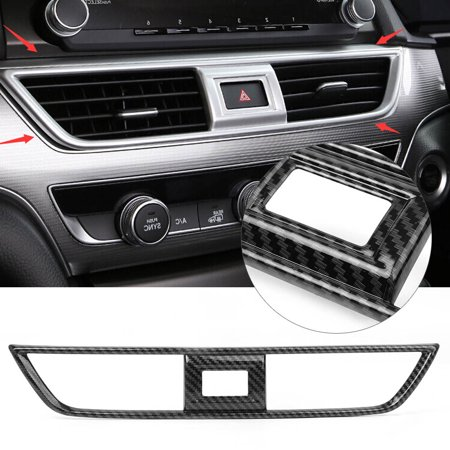GZYF ABS Carbon Fiber Center Dashboard Air Vent Outlet Cover Trim For Honda Accord