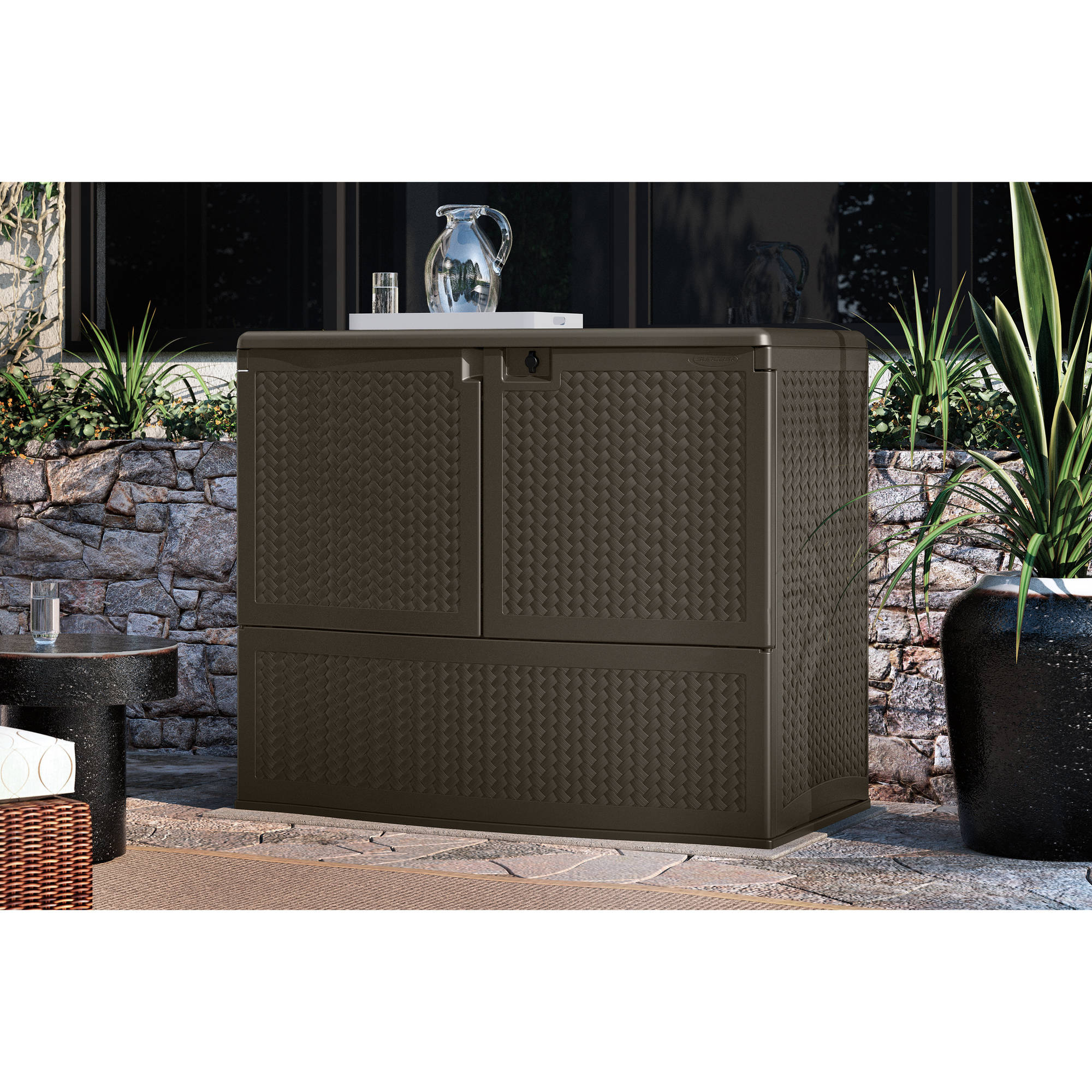 Suncast Herringbone Vertical Deck Box by Suncast