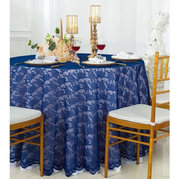 Lace Table Overlay Linens, Round Lace Table Toppers