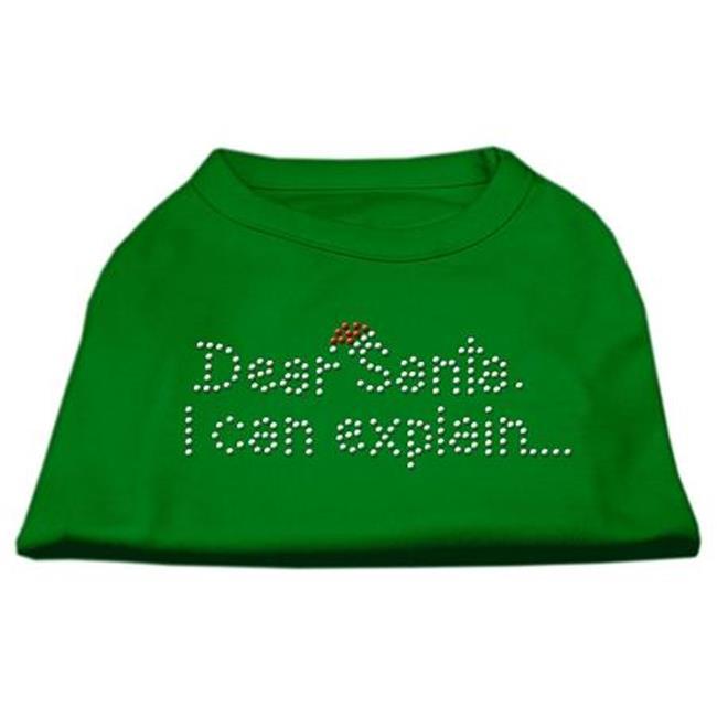 Dear Santa I Can Explain Rhinestone Shirts Emerald Green Xl (16) - image 1 de 1
