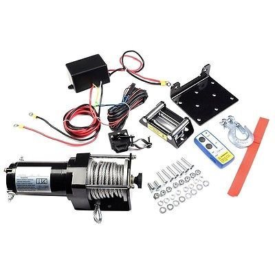 3000lbs 12V Electric Recovery Winch Truck SUV Wireless Remote Control Classic by Apontus
