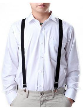 29233599b33 Product Image HDE Men s Elastic Y-Back Clip Suspenders - 1 Inch Wide (Black)