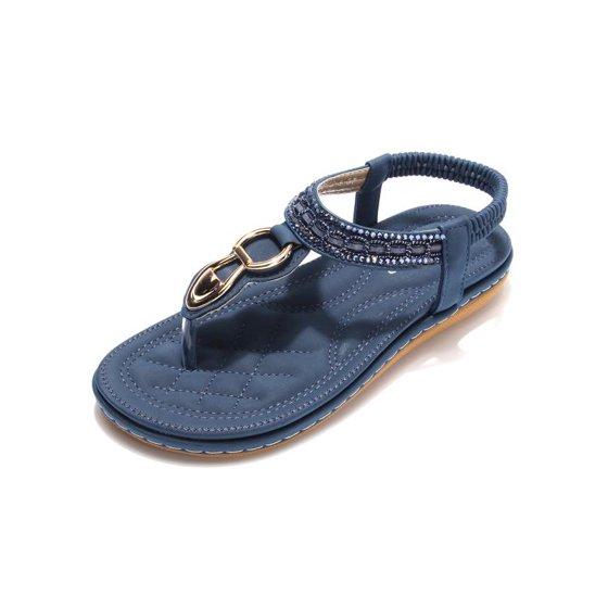 da8bbcff4c61 Meigar - Meigar Women Summer Bohemia Slippers Flip Flops Lady Flat Sandals  Beach Thong Shoes - Walmart.com