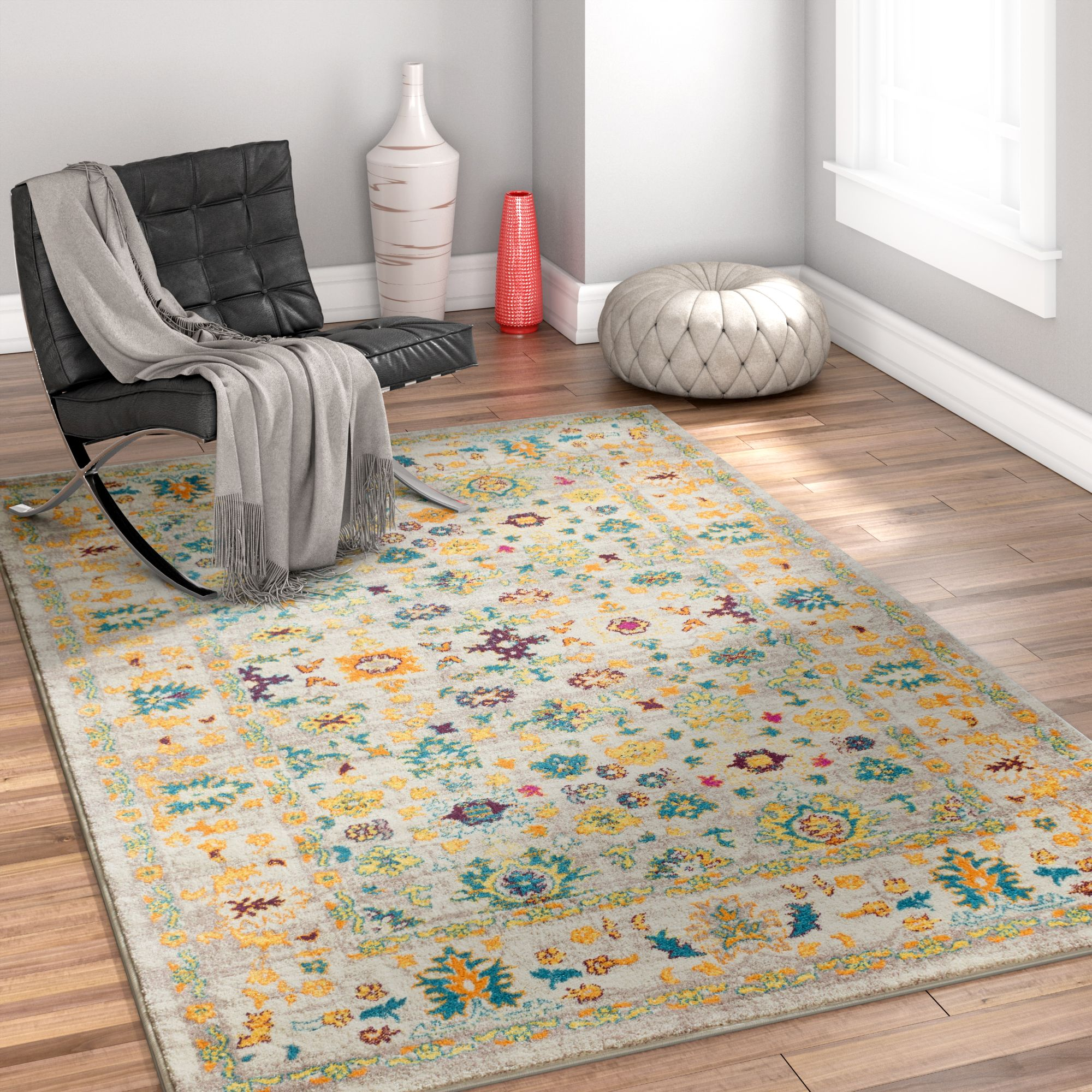 Well Woven Laurent Shaw Multi Vintage Traditional Area Rug