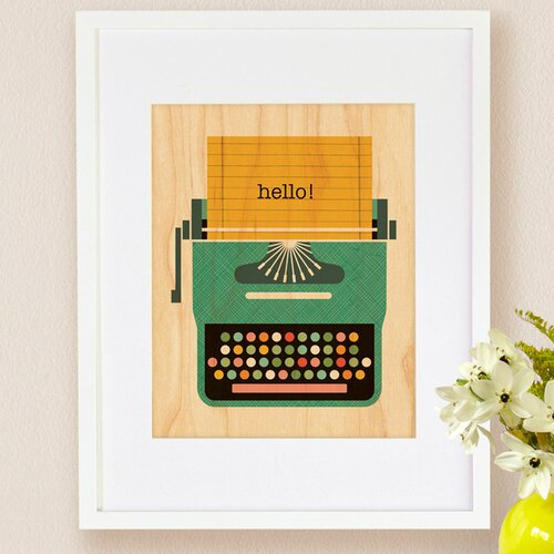 Petit Collage Typewriter, Small Framed Art