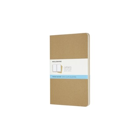 Moleskine Cahier Journal, Large, Dotted, Kraft Brown (5 X 8.25) (Other)