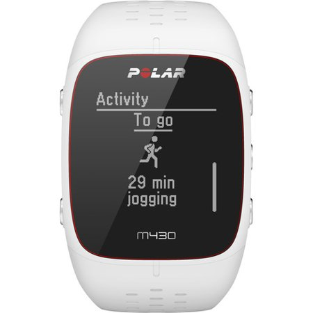 88a2908387c1d5 Polar M430 GPS Running White Waterproof Watch w/ Rechargeable Battery -  Walmart.com