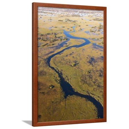Okavango River and Delta Framed Print Wall Art By Sergio Pitamitz - 5 Rivers Delta Halloween