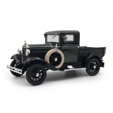 1931 Ford Model A Pickup Truck Gunmetal Gray 1/18 Diecast Model Car by Sunstar